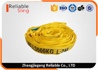 China 3 ton Yellow Endless Type Polyester Color Code Round Lifting Sling Belt factory