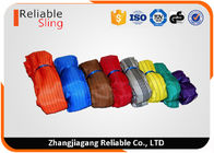 China EN1492-2 Color Code Custom Polyester Soft Round Weight Lifting Strap factory