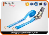Custom 25mm 1000 Kg Mini Ratchet Tie Down Strap With Hooks CE Approved