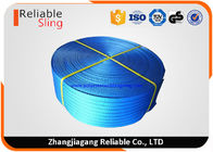 Blue Polyester Webbing For 8 Ton Woven Lifting Slings 200mm CE Certification