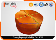 China CE Approved 10 Ton Orange  Polyester Sling Webbing For Heavy Duty Lifting Sling factory