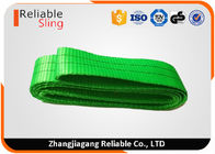 China 2 Ton Duplex Synthetic Endless Webbing Sling Green High Flexible Lifting Belt factory