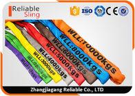 EN Standard Color Code Polyester Lifting Slings , Endless Cargo Slings