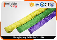 China Synthetic Polyester Round Webbing Slings , Crane Lifting Slings with CE Approved factory