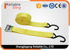 "China 1.5"" Muticolor Zinc Alloy Cam Buckle Tie Down Strap with S hooks , Ratcheting Cargo Straps factory"