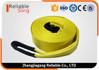 "3"" 20000lbs Yellow Heavy Duty Tow Straps Recovery Winch Strap with Reinforced Loop"