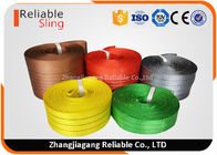China Light weight Color Coded Polyester Cargo Webbing , 25mm-300mm Flat Webbing factory