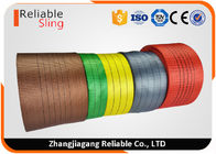 China 2 Ton Flat Polyester Webbing Textile Sling Webbing Eco Friendly and Coloration factory
