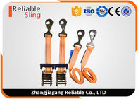 OEM Quick Release Polyester Ratchet Cargo Lashing for Tie Down , Cargo Ratchet Straps