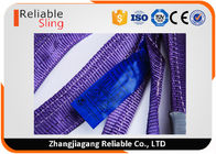 Purple Polyester Duplex Flat Webbing Sling with Reinforced Lifting Eyes 1 Tonne