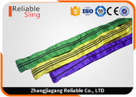 China Tested Endless Polyester Round Slings for Pipe Lifting Safety Factor 7-1 company