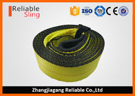 OEM Multi Color 3 Inch Polyester Tow Strap , Reusable Car Tow Strap