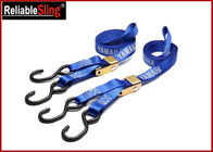 Custom 1 Inch Cam Buckle Tie Down Strap , Polyester Cargo Lashing Strap