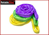 China EN Standard Color Code Polyester Lifting Slings , Endless Cargo Slings factory