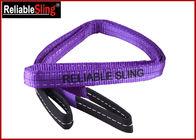 WLL 4000 kg Polyester Flat Webbing Sling Duplex Eye Eye Webbing Belt