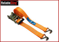 China High Strength Ratchet Tie Down Strap For Trucks Color Customized with Claw hook factory