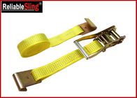 "China 1.5"" Muticolor Zinc Alloy Cam Buckle Heavy Duty Ratchet Strap With S Hooks factory"