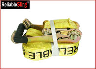 China Customized Double J Hook Heavy Duty Ratchet Tie Down Strap Cargo Lashing Strap factory