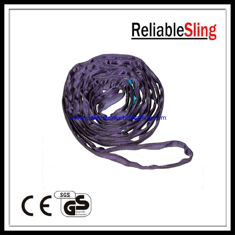 EN1492-2 Anti - abrasion round endless sling with PU - impregnated webbing sleeve