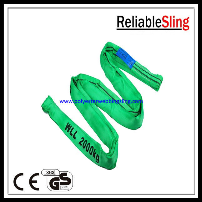 Wear - resistant loop Endless Polyester Round Slings Light weight