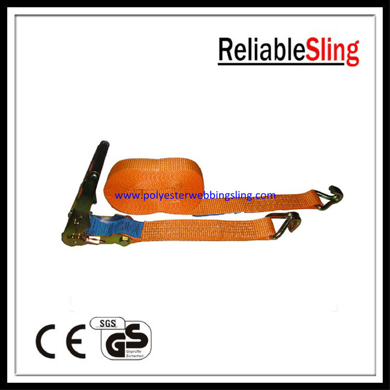 Ratchet Tie Down Strap , 5T cargo lashing belt