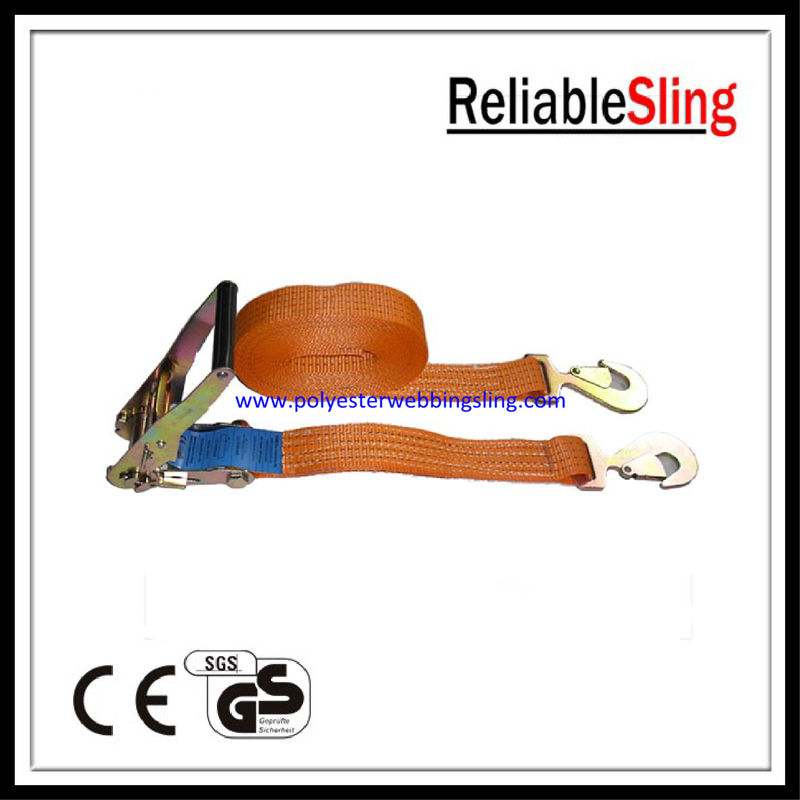 EN12195-2 Heavy Duty cargo straps / lashing belt with breaking strength 4Ton
