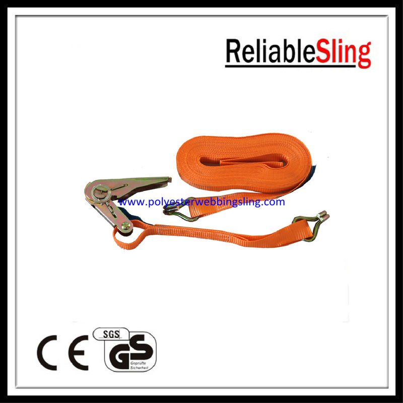 Cam Buckle 25mm Ratchet Tie Down Strap , 1 Inch 850kg winch tie down straps