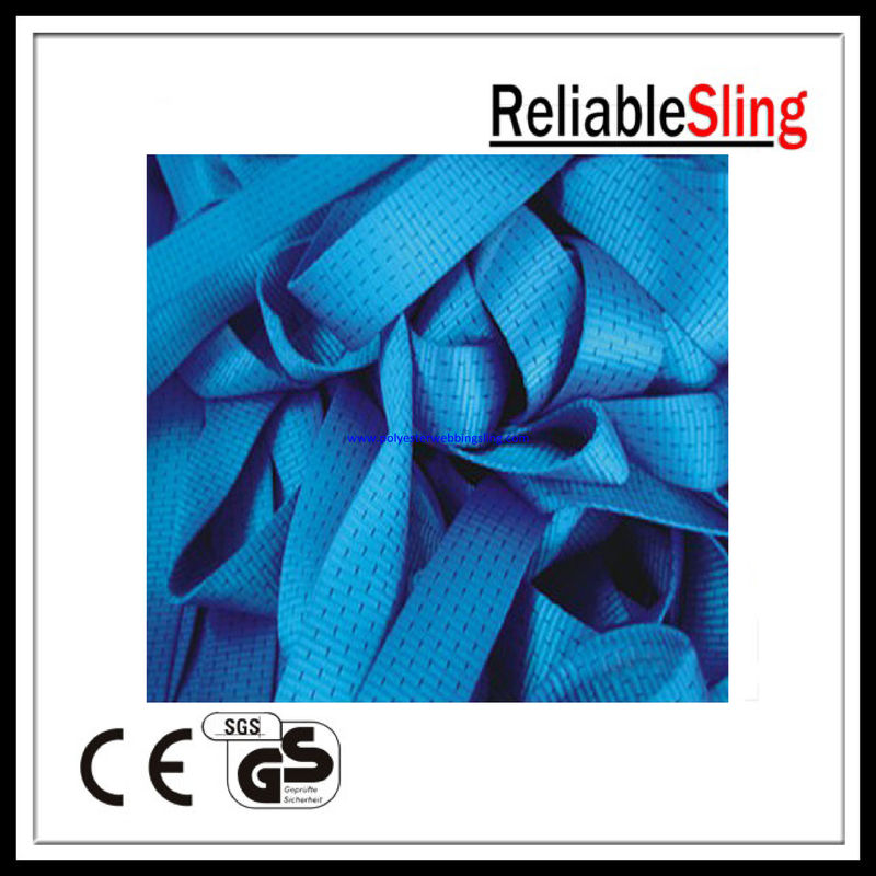 High strength Polyester Blue Ratchet Strap Webbing roll Custom 5T