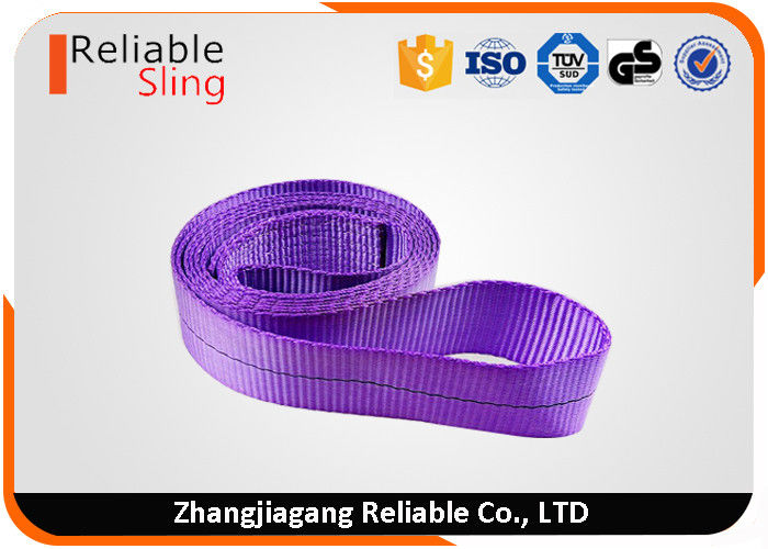 100% Polyester Wear Resistant Endless Webbing Sling Belt For Lifting Loads