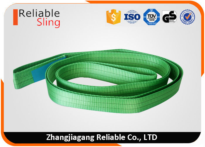 En1492-1 Green Polyester Crane Endless Lifting Slings 2 Ton Industrial Lifting Slings