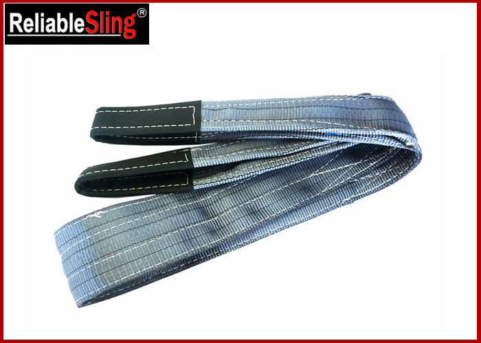 Polyester Flat Double Eye Webbing Sling Color Code Lifting Sling Single Ply Or Double Plies