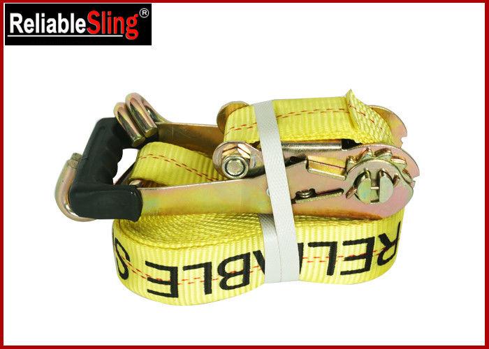 Customized Double J Hook Heavy Duty Ratchet Tie Down Strap