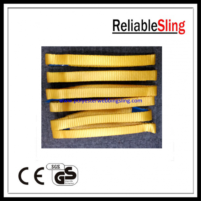 High strength Endless Webbing Sling , 100% Polyester lifting slings and straps