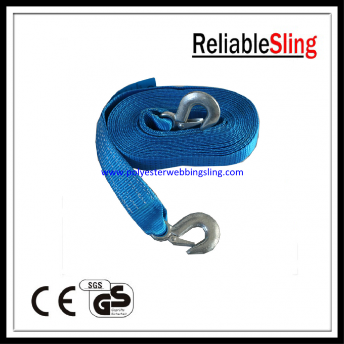 EN12195 4M / 6M / 8M Blue heavy duty lashing straps 50mm Belt Width for truck