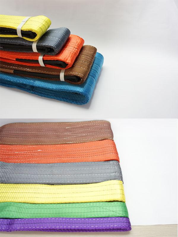 Pliable Polyester Flat Web Sling Belt Type For Lifting 5 Ton Coloration Finish