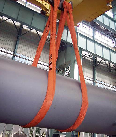 1000Kg Safety Endless Polyester Round Slings With OEM Logo Printing <= 7% Elongation