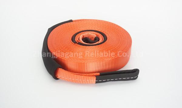 Red Polyester Heavy Duty Tow Straps 50 mm Width 4500 kg For Motor Vehicle