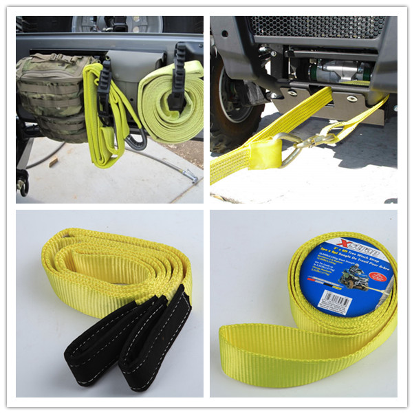 "3"" 4"" Polyester Heavy Duty Tow Straps US Type Logo Printing Towing Belt For Car Truck"
