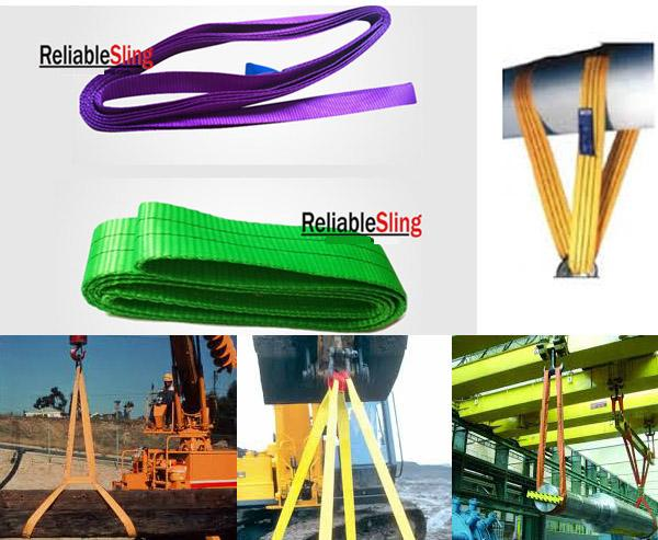 Light Weight Polyester Endless Webbing Sling Industrial Double Ply Portable Sling