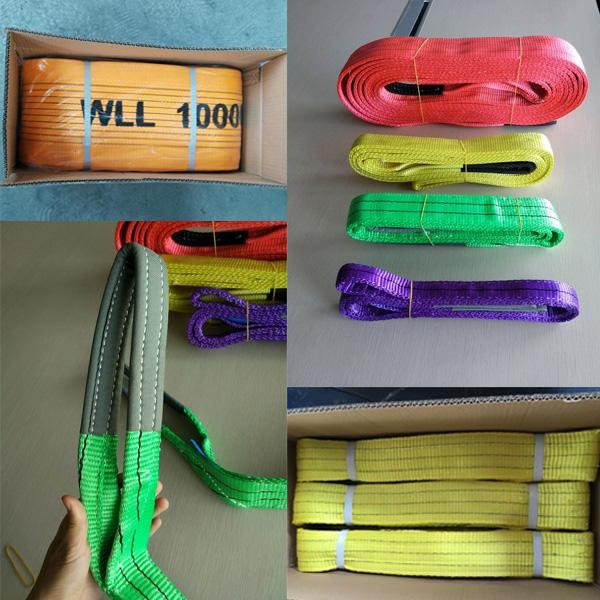 Polyester Eye and Eye Sling , Lifting Slings Safety Factor 6 Times with 1 Ton Capacity
