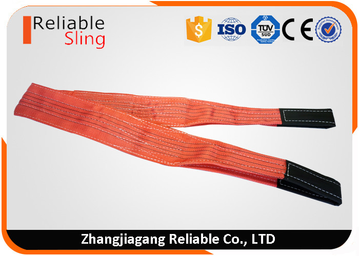 5 Ton Load Capacity Polyester Flat Webbing Sling Soft Duplex Webbing Sling