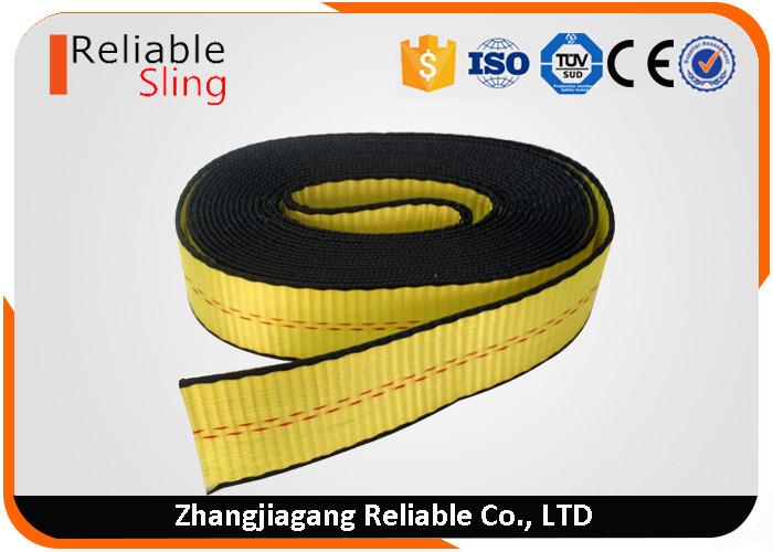 American Standard Yellow 2 Inch Striped Ratchet Lashing Strap Flat Webbing