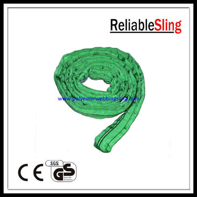 China Single / double ply Endless Polyester Round Slings , crane / cargo sling factory
