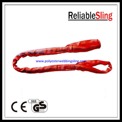 China Soft eye and eye Flat Polyester Round Slings belt with CE / GS / ISO Standard factory