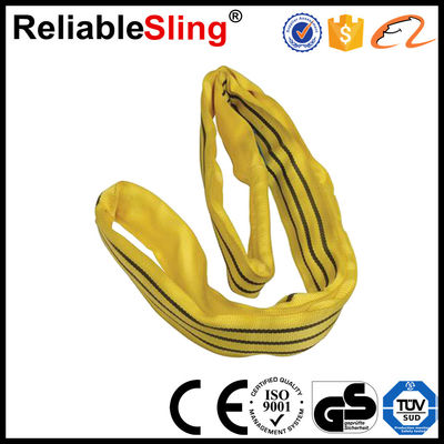 China Lifting Polyester Round Slings Polyester Lifting Slings 1-10 Ton Acc factory