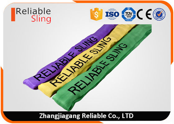 Custom Print Logo Heavy Duty Polyester Round Slings for Lifting Loads