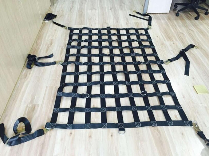 Vehicle 25mm 35mm 50mm Custom Cargo Net , Lifting Cargo Nets For Cars